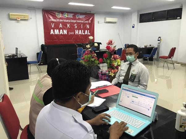 Vaksinasi Covid 19 di Pengadilan Negeri Gorontalo Kelas 1A