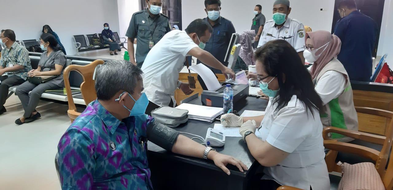 Vaksin Kedua di Pengadilan  Negeri Gorontalo