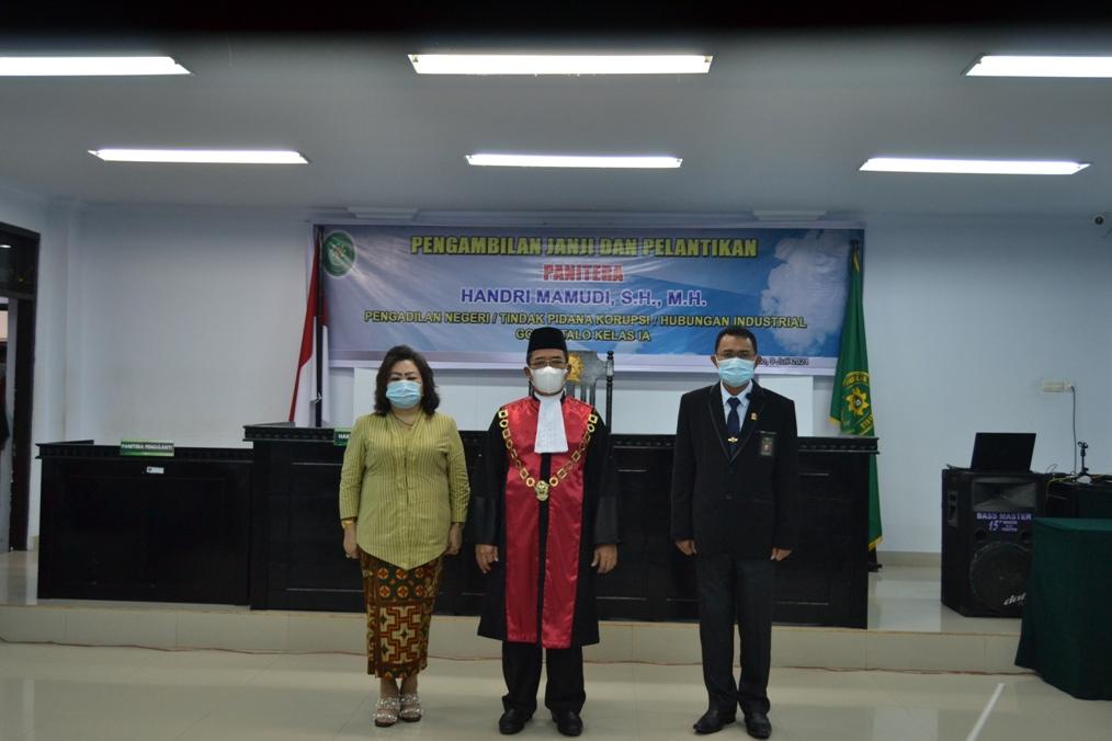 Pelantikan Panitera di Pengadilan Negeri / Tindak Pidana Korupsi/Hubungan Industrial Gorontalo Kelas IA